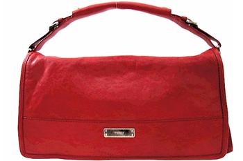 Michele Collins Horizontal Carnet Dark Red Flap Bag Handbag  UPC:099945401386