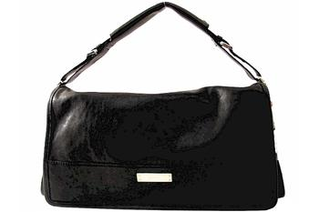 Michele Collins Horizontal Black Ladies Flap Bag Handbag UPC:099945385051