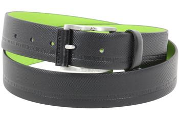 Hugo Boss Men's Tymos Embossed Genuine Leather Belt  UPC: