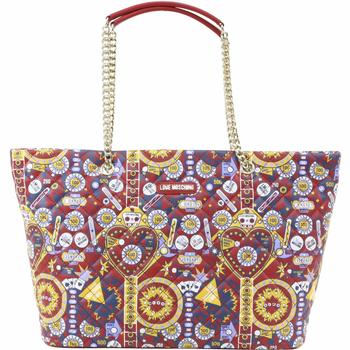 Love Moschino Women's Pinball Patterned Quilted Shoulder Tote Handbag