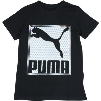 Puma Boy's Geometric Logo Sport Short Sleeve Crew Neck Shirt  UPC: