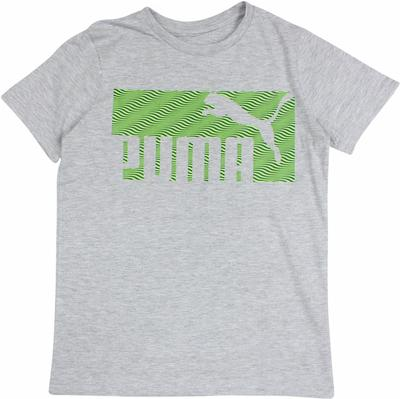 Puma Boy's Logo Short Sleeve Crew Neck Graphic T-Shirt  UPC: