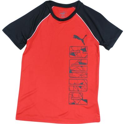 Puma Boy's Graphic Logo Short Sleeve Crew Neck Cotton T-Shirt  UPC:
