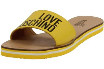 Love Moschino Women's Logo Slip-On Slides Sandals Shoes