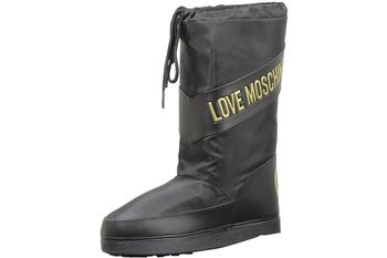 Love Moschino Women's Techno Fabric Logo Stripe Boots Shoes