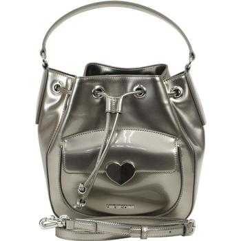 Love Moschino Women's Cut Heart Patent Bucket Handbag