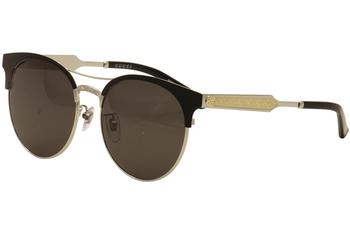 Gucci Women's GG0075S GG/0075/S Aviator Fashion Sunglasses  UPC:
