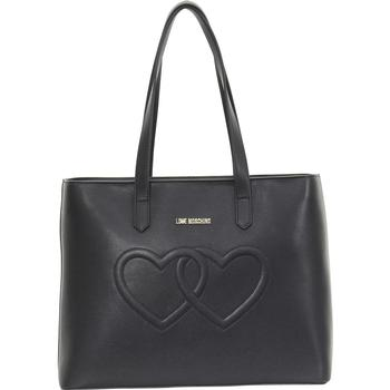Love Moschino Women's Embroidered Double Heart Tote Handbag