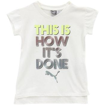 Puma Little Girl's V-Neck This Is How Its Done Short Sleeve T-Shirt  UPC: