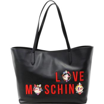 Love Moschino Women's Embroidered & Jeweled Logo Tote Satchel Handbag