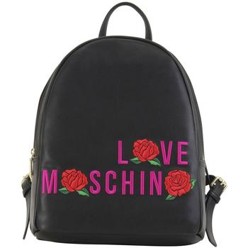 Love Moschino Women's Embroidered Rose Backpack Bag