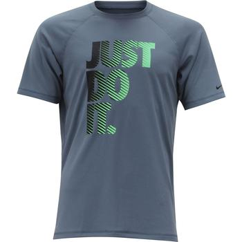Nike Men's Hydroguard Short Sleeve Dri-Fit Rash Guard Shirt