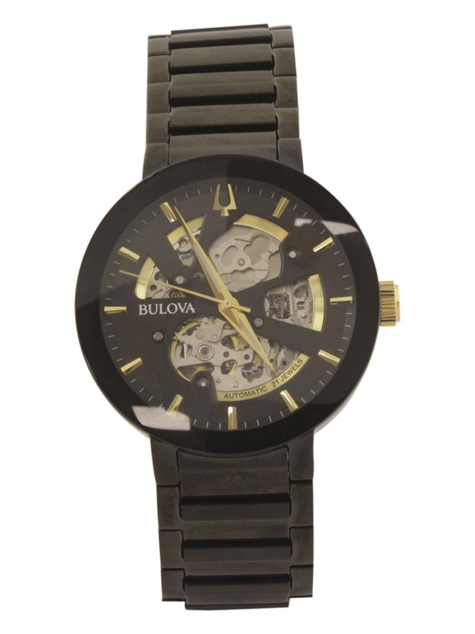 Image of Bulova Men s Modern 98A203 Black Gold Analog Watch