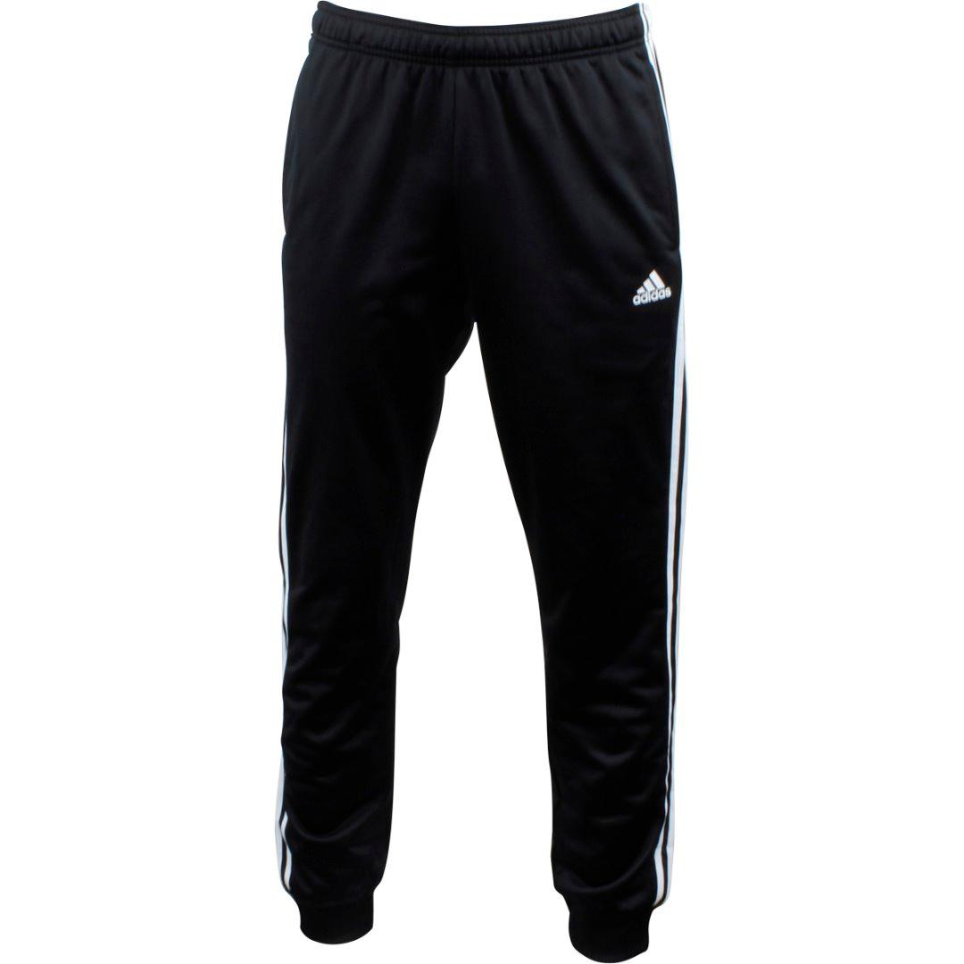 Adidas Men's Essentials 3-Stripe Tricot Pant Black/White Sport Pants