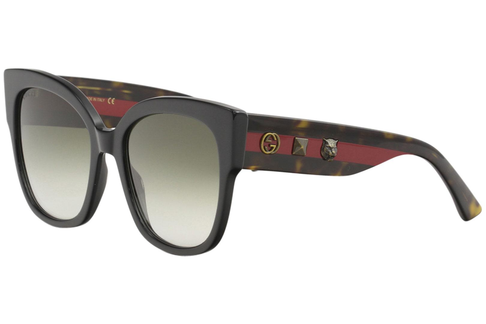 a66b4e36c2c Gucci Women s GG0059S GG 0059 S Fashion Square Sunglasses by Gucci. Touch  to zoom