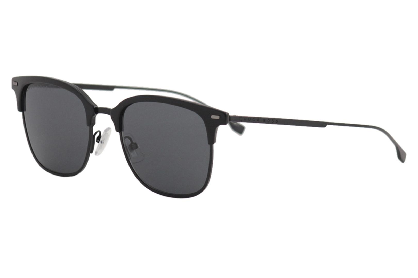 6ad9627d27b4 Hugo Boss Men's 1028FS 1028/F/S Fashion Square Titanium Sunglasses by Hugo  Boss