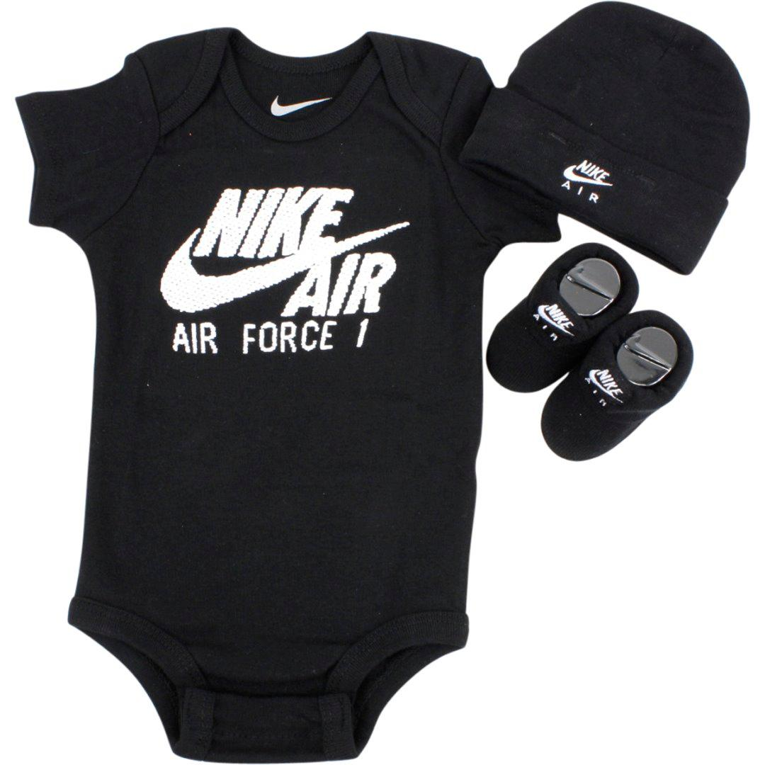 e154527a72783 Nike Infant Boy s Air Force 1 Puff Logo 3-Piece Set (Hat