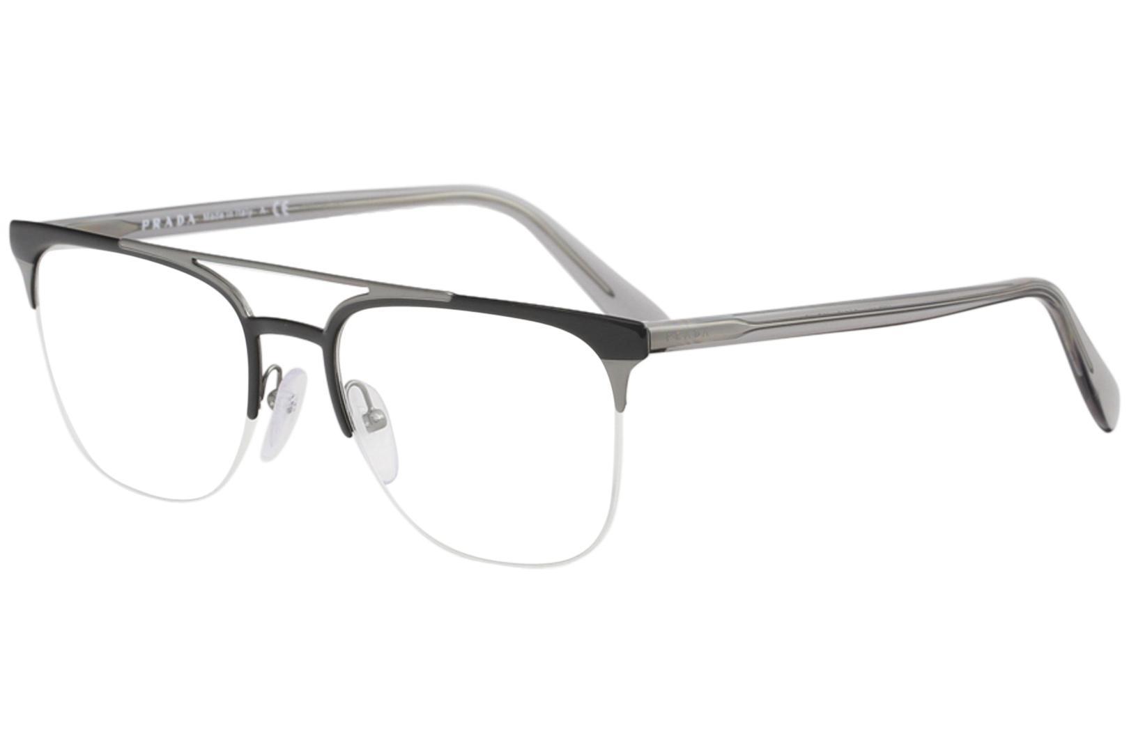 67ad1a88104 Prada Men s Eyeglasses VPR63U VPR 63U Half Rim Optical Frame by Prada