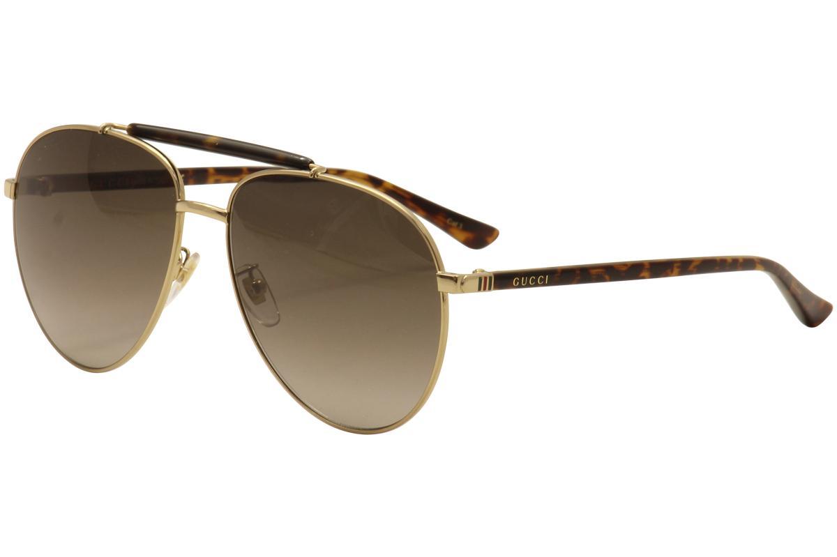 45e5ead0a1 Gucci Men s GG0014S GG 0014 S Fashion Pilot Sunglasses by Gucci