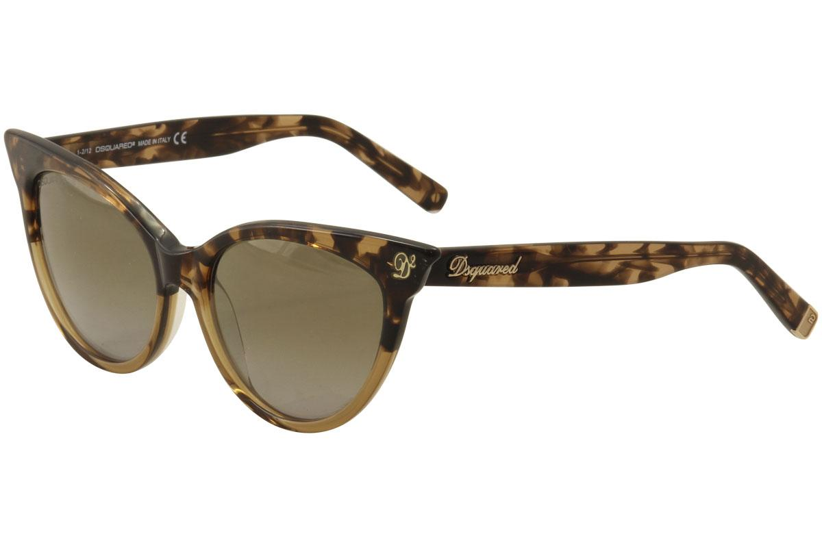 65582124d34 Dsquared2 Women s DQ0097 DQ 0097 Cat Eye Fashion Sunglasses by Dsquared2