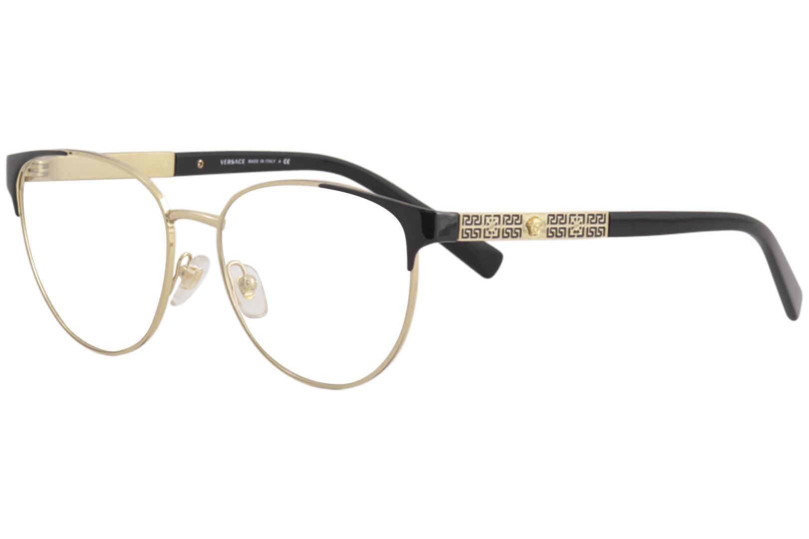 f8c397eaf909 Versace Women s Eyeglasses VE1238 VE1238 Full Rim Oval Optical Frame