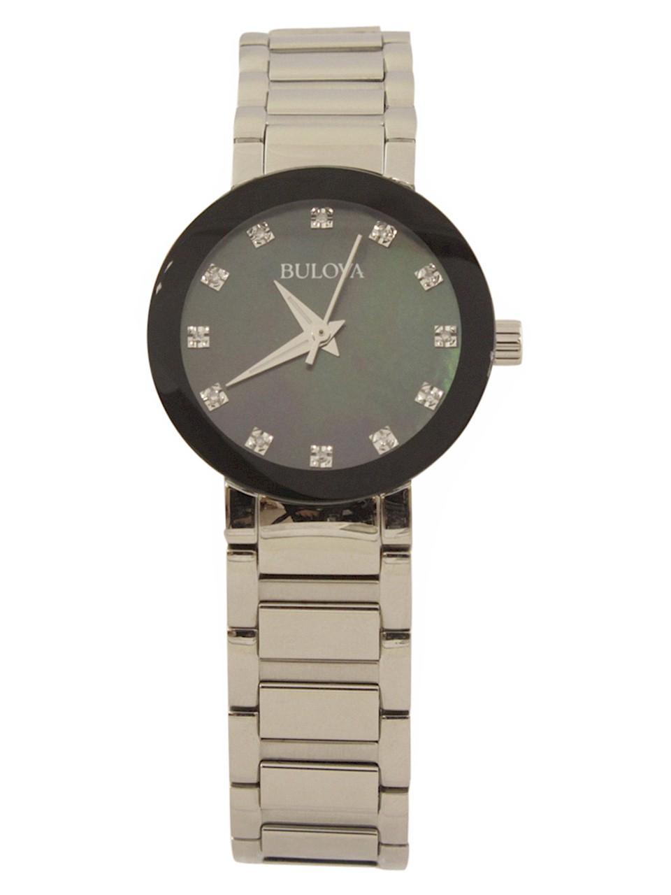 Image of Bulova Women s Modern 96P172 Silver Diamond Analog Watch