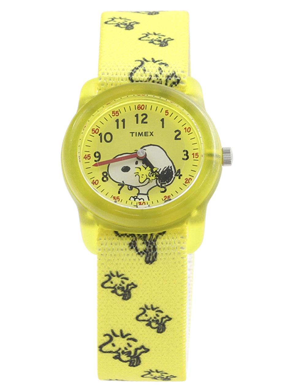 Timex TW2R41500 Time Machines Peanuts Collection Snoopy Yellow Analog Watch