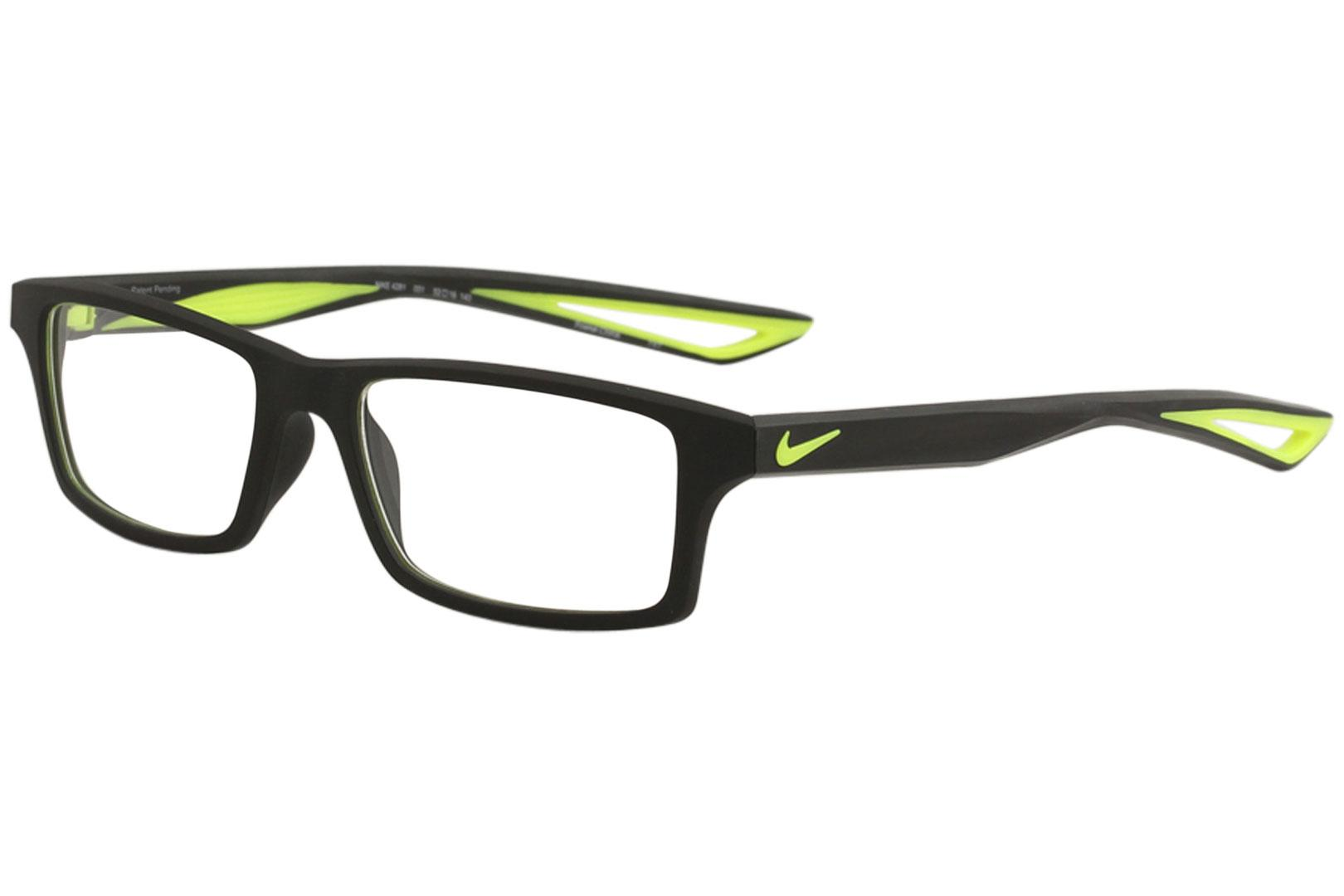 96f225358d Nike Men s Eyeglasses 4281 001 Black Volt Full Rim Flexon Optical ...
