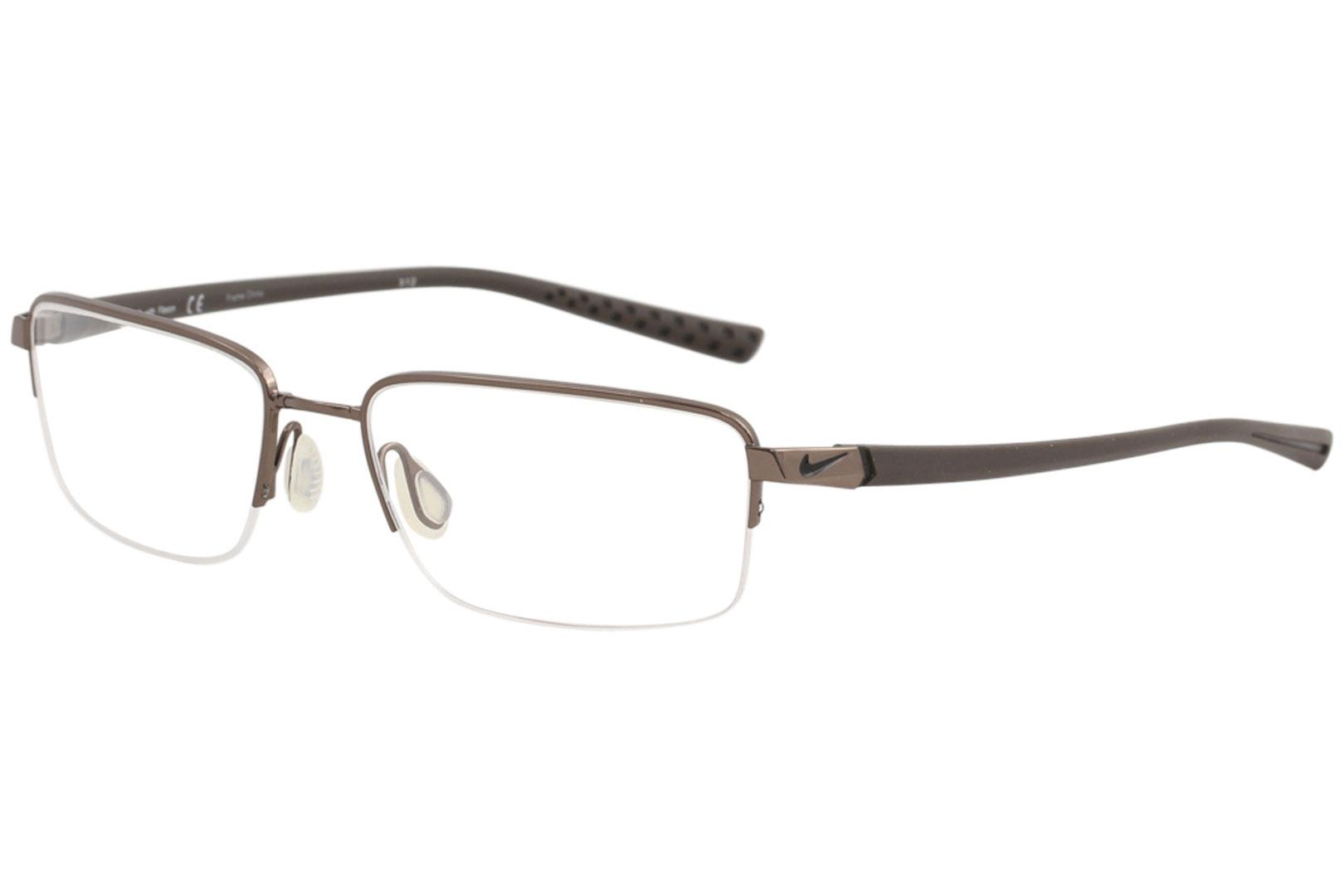 3575c127c4 Nike Men s Eyeglasses Flexon 4214 Half Rim Rectangle Optical Frame