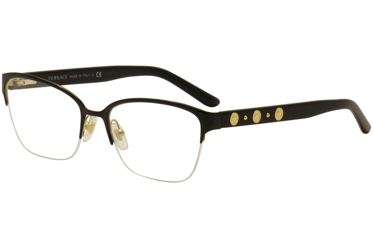 7c71ae006f50 Versace Women's Eyeglasses VE1224 VE/1224 Half Rim Optical Frame by Versace