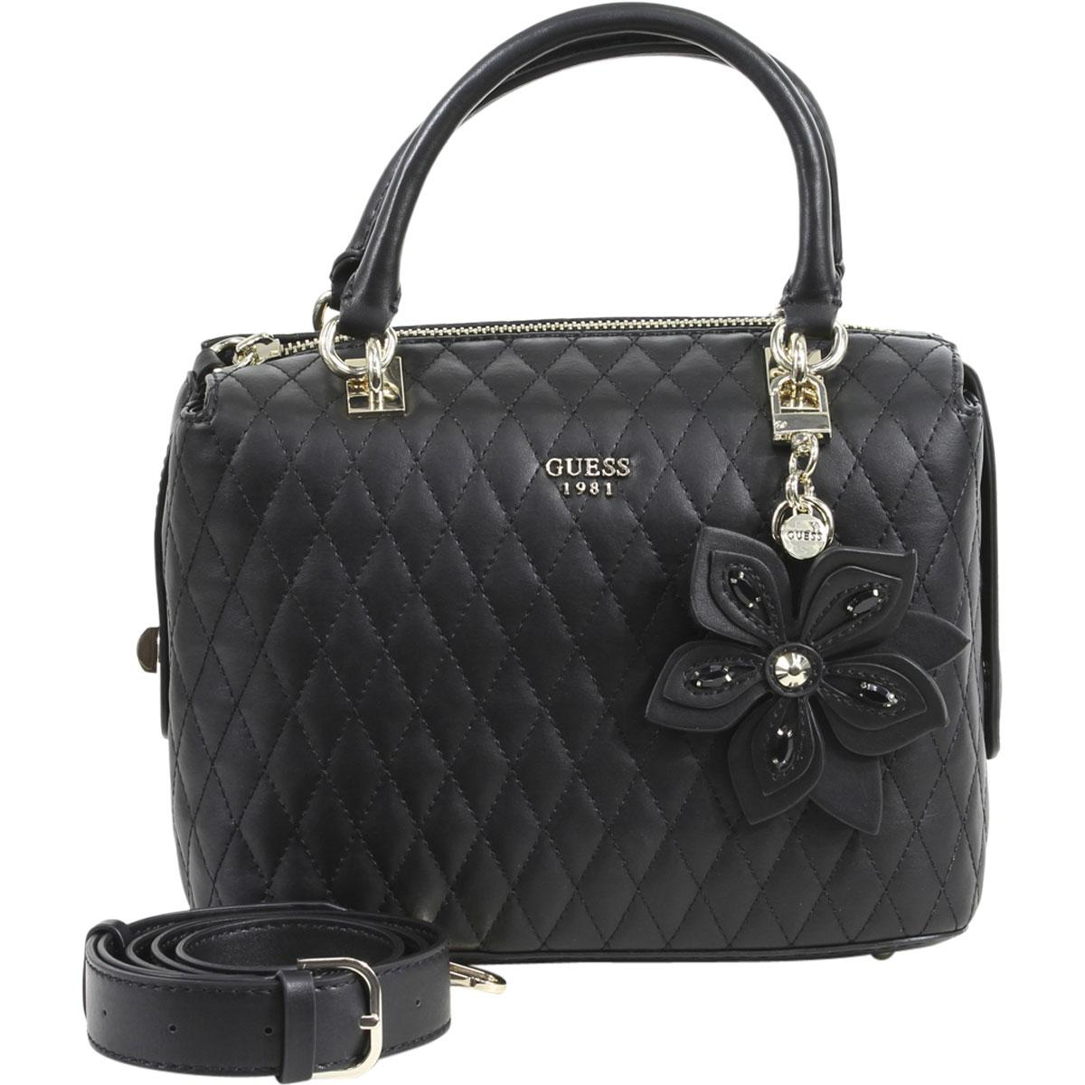 52566005ac Guess Women s Sibyl Metallic Box Satchel Handbag