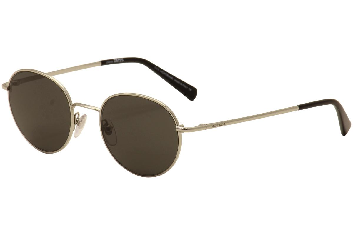 47daba3337 Mont Blanc Men s MB550S MB 550 S Retro Round Sunglasses by Mont Blanc