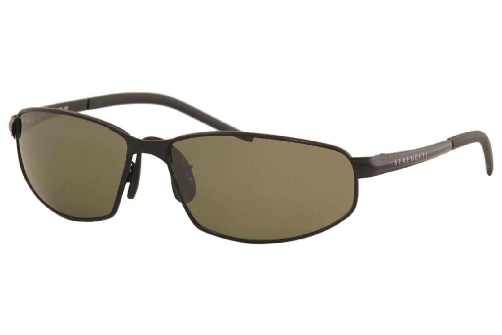 Image of Serengeti Granada 7301 Sunglasses Satin Black Polarized Shades