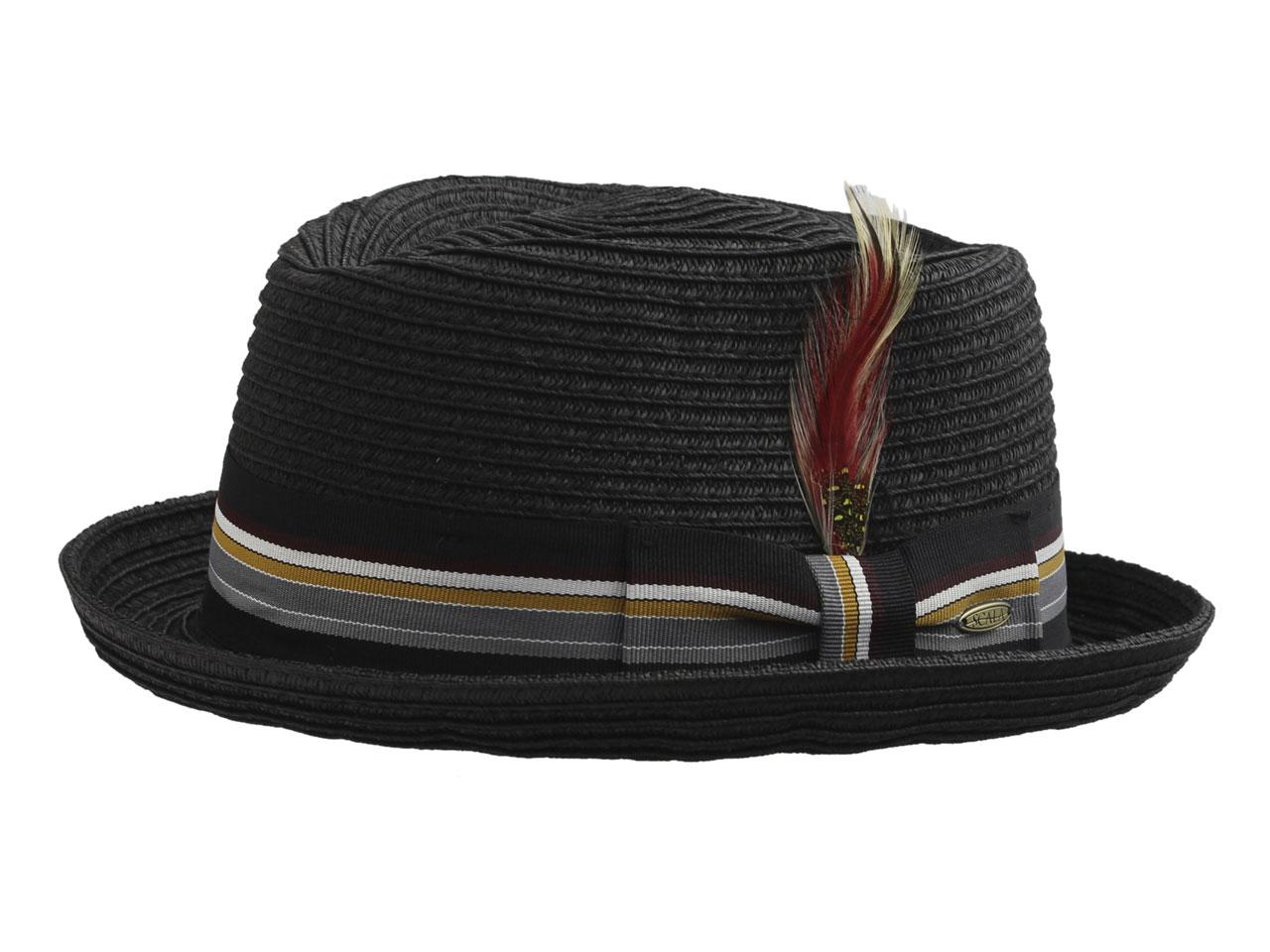 c2e9ad3436c Scala Men's Paper Braid Pork Pie Hat by Scala