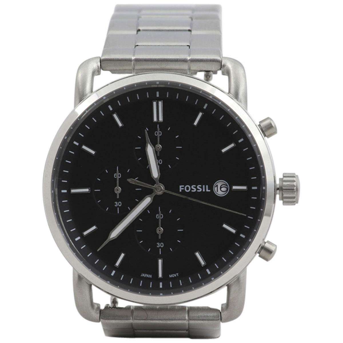 Fossil Mens Fs55385 Silver Gold Stainless Steel Chronograph Analog Expedition E6681 Rose Black Fs5399 Watch