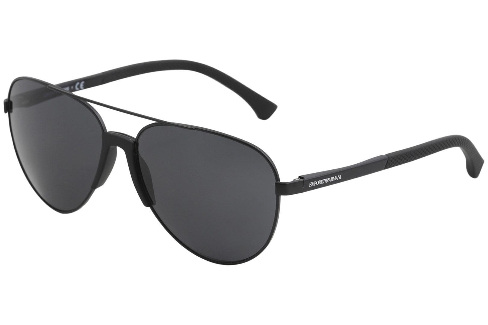 e50981b5a051 Emporio Armani Men s EA2059 EA 2059 Fashion Pilot Sunglasses by Emporio  Armani