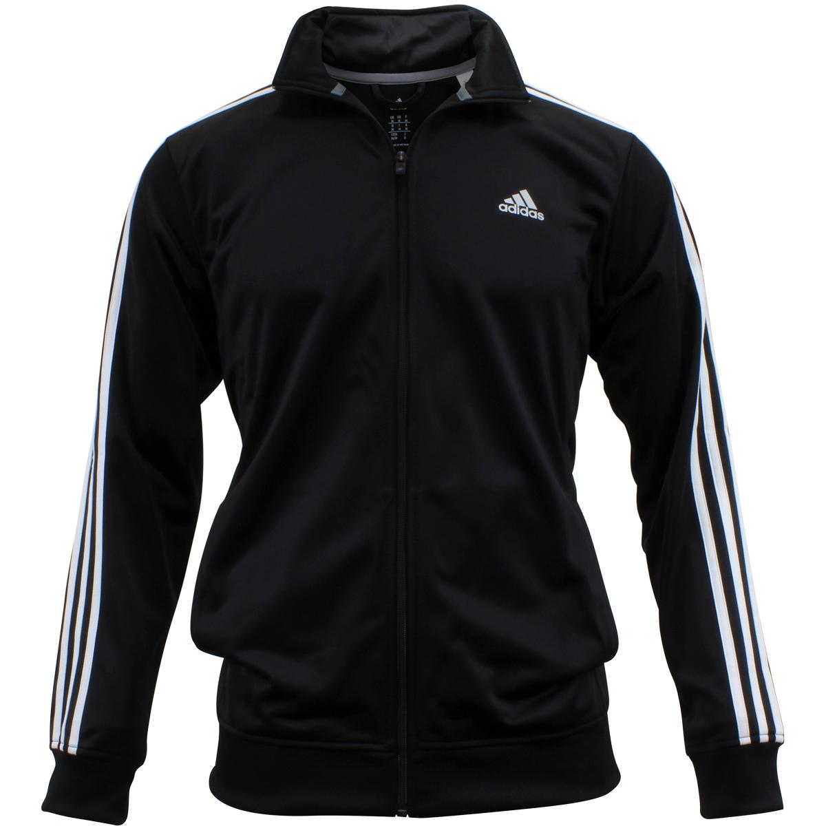 a18e73cfc Adidas Men's Essentials Black/White Tricot Long Sleeve Track Jacket by  Adidas