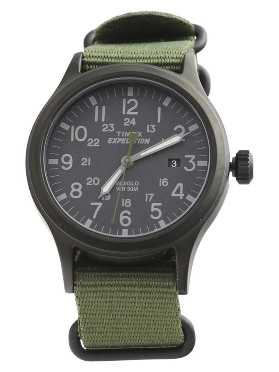 Timex Men s TW4B04700 Expedition Scout 40 Black Green Analog Watch