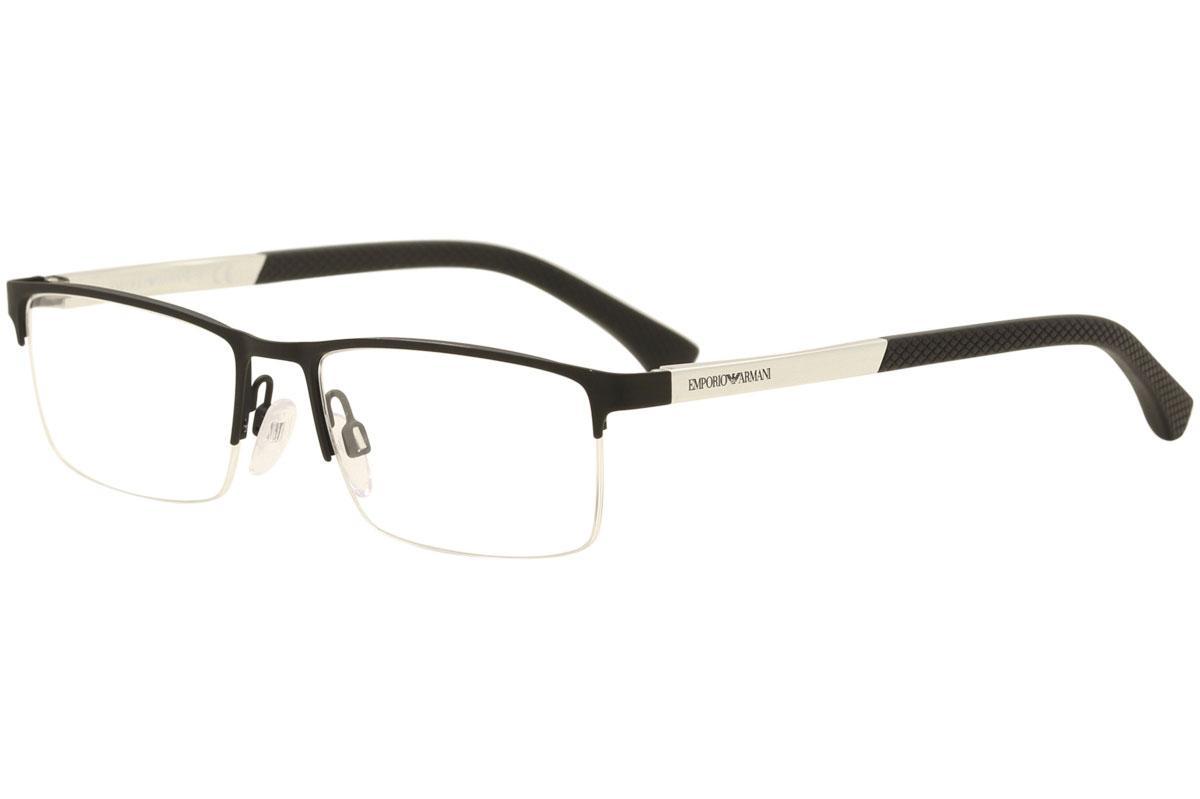 25a283d4 Emporio Armani Men's Eyeglasses EA1041 EA/1041 Half Rim Optical Frame