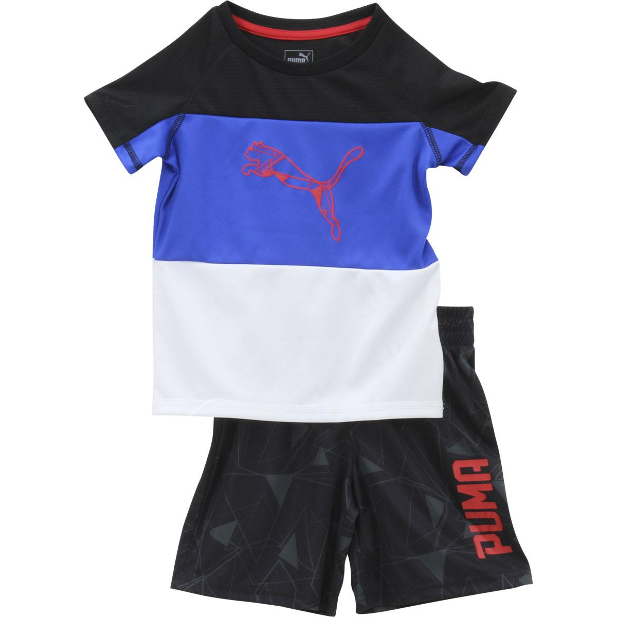 Puma Toddler Boy's 2-Piece Abstract Cat Short Sleeve T-Shirt & Shorts Set