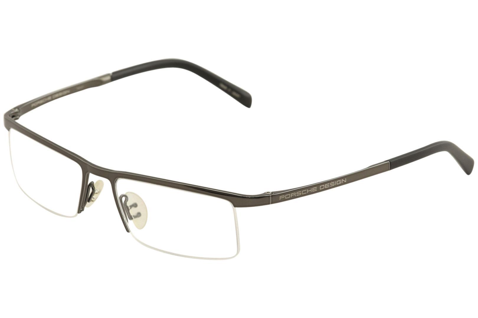 bb46c9180418 Porsche Design Men's Eyeglasses P8129 P/8129 Half Rim Titanium Optical Frame  by Porsche Design