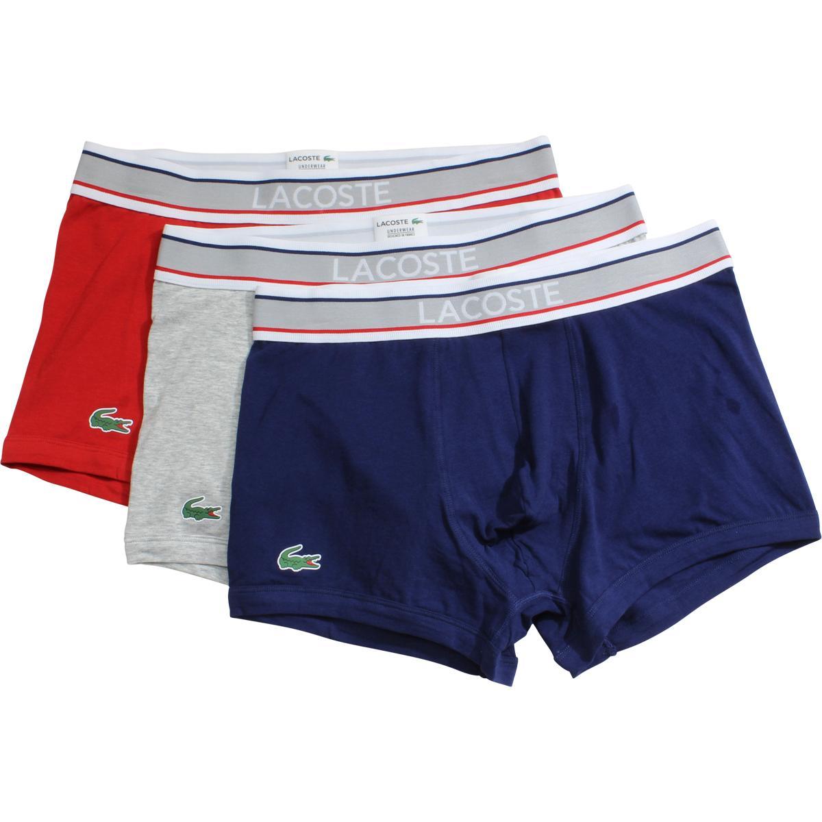 cd4148020 Lacoste Men s 3-Pc Colours Signature Stretch Boxers Underwear by Lacoste