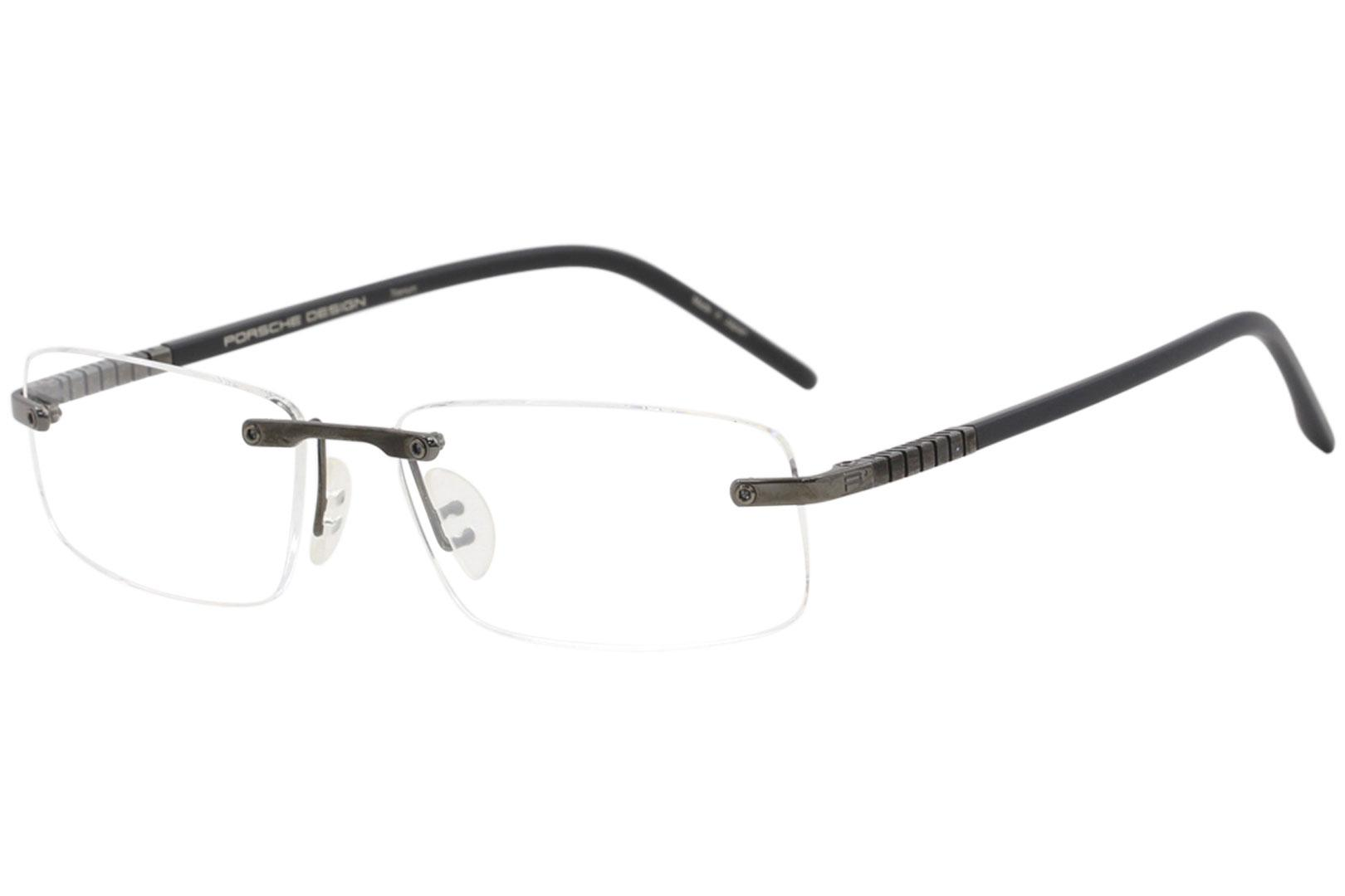 ed5f2243f22 Porsche Design Men s Eyeglasses P8144 P 8144 Rimless Titanium Optical Frame  by Porsche Design