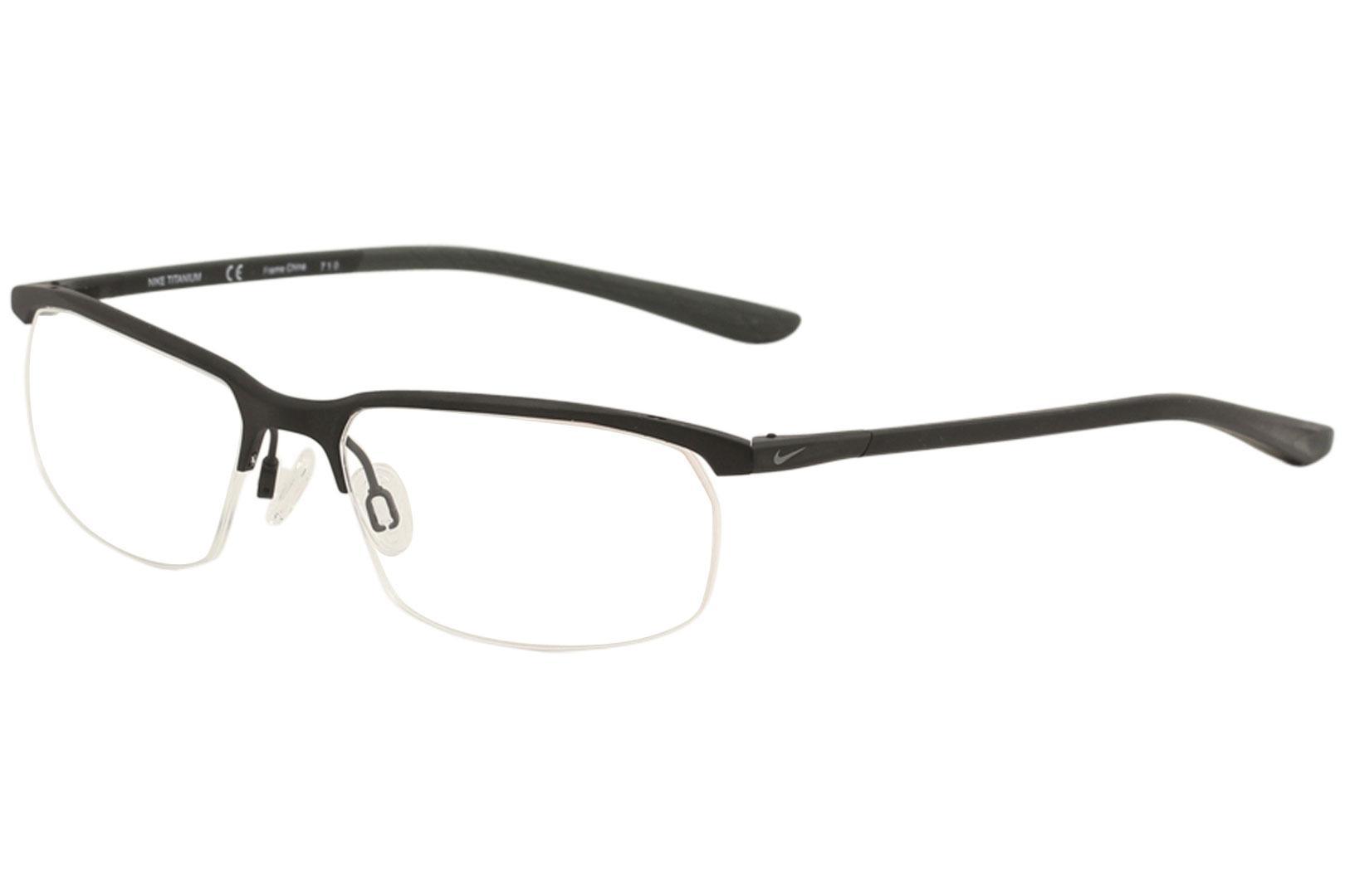 31266c65f9e Nike Men s Eyeglasses 6070 Half Rim Titanium Optical Frame