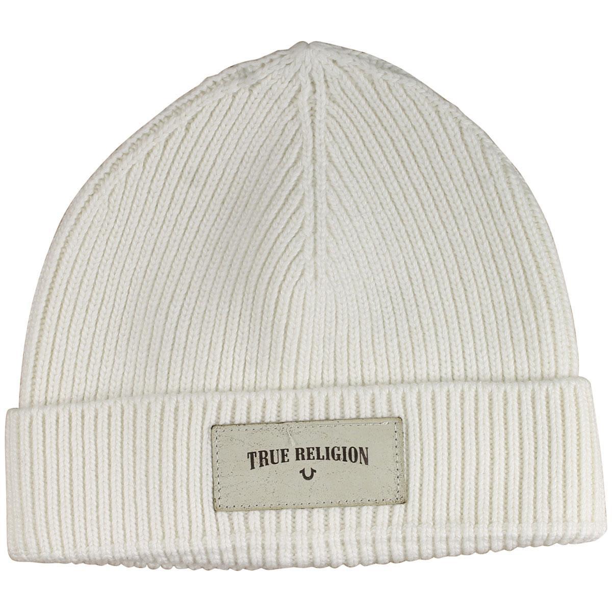 True Religion Men's Ribbed Knit Watchcap Hat