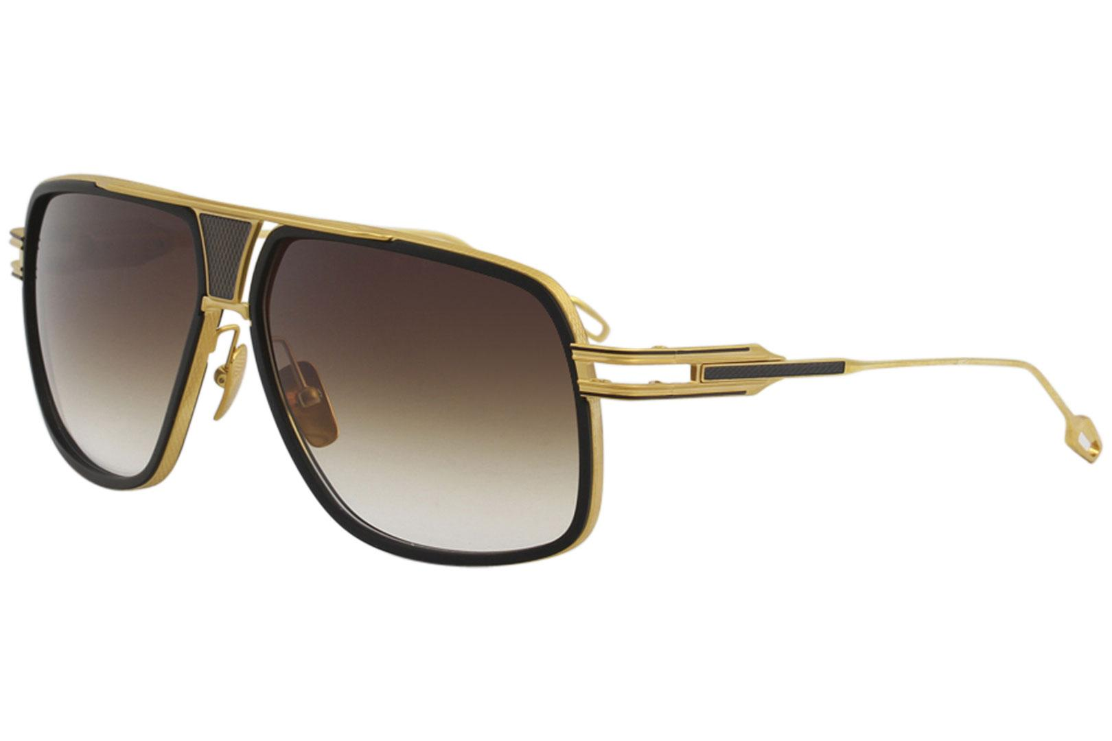 a4befea7d09 Dita Men s Grandmaster-Five DRX-2077 18K Gold Fashion Pilot Titanium  Sunglasses