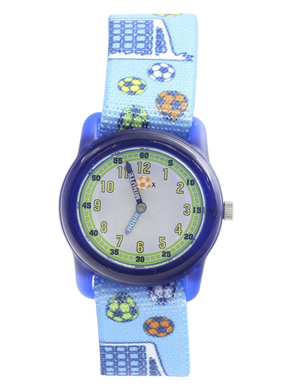 Image of Timex Boy s TW7C16500 Time Machines Blue Soccer Analog Watch
