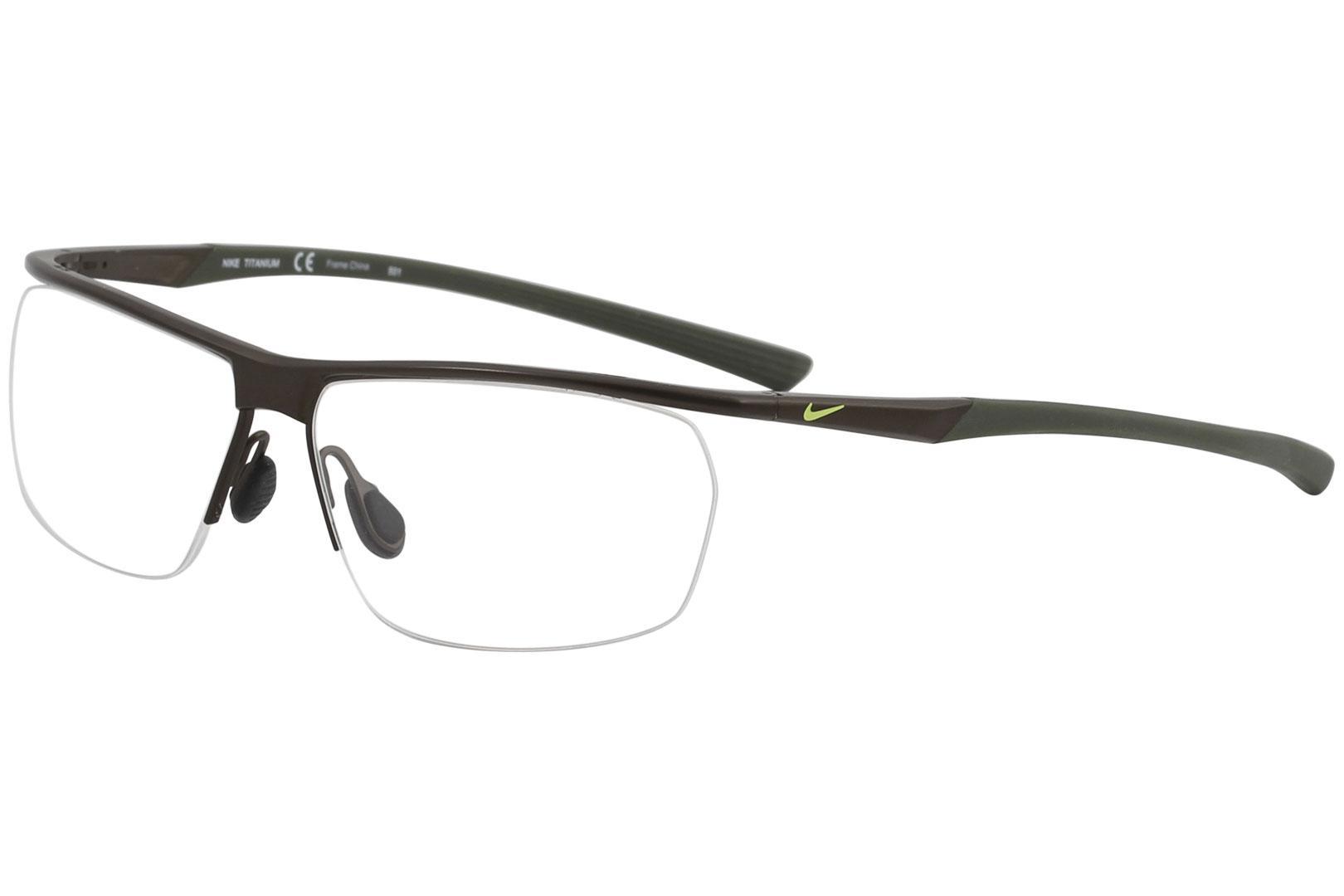 df7157fe51 Nike Men s Eyeglasses 6060 Half-Rim Optical Frame