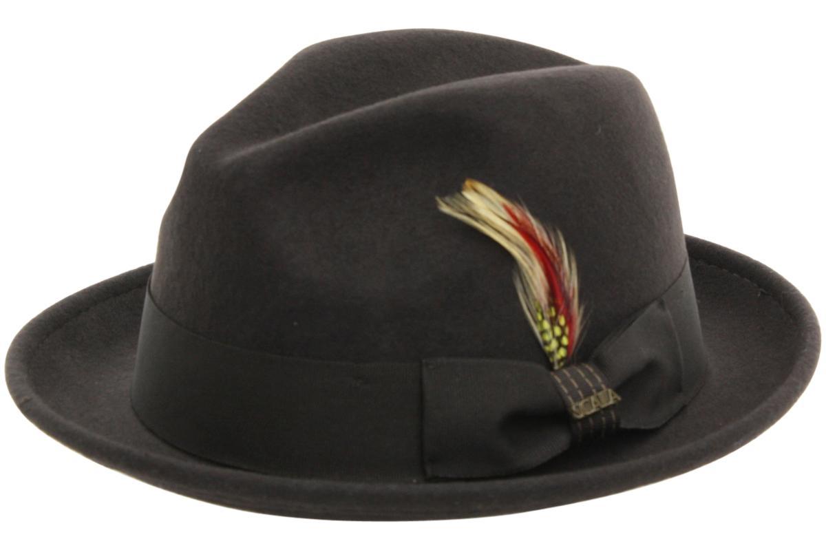 39859d1524be3 Scala Classico Men s Crushable Wool Felt Snap Brim Fedora Hat by Scala  Classico