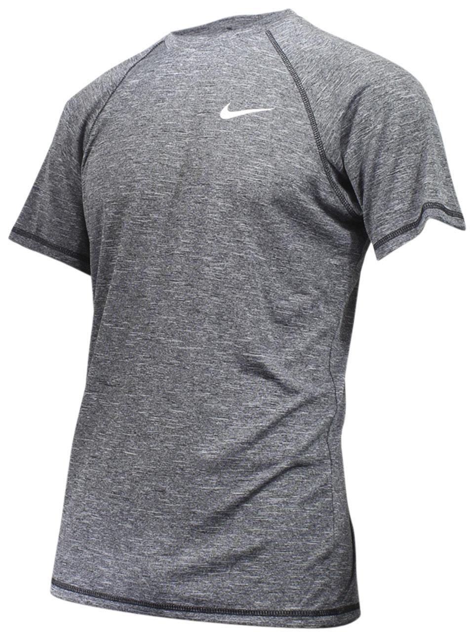 ee316f81f Nike Men's Heather Short Sleeve Hydroguard Shirt Swimwear | eBay